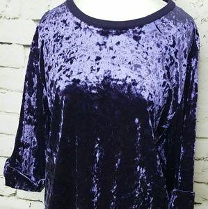 Supplies by Union Bay purple velvet top sz Lg